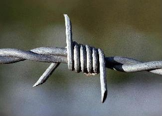 Barbed wire to show protection